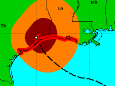 Powerful Ike Slams Texas at 2 a.m. CDT on Verge of Category 3