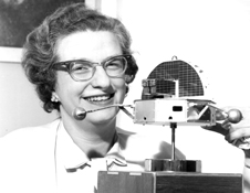 Start from scratch - Nancy Roman, with a model of the Orbiting Solar Observatory, started and organized NASA's astronomy program.