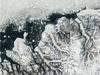 Satellite image of Ellesmere ice