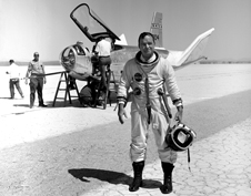 At home in the air Famed NASA X-15 test pilot Bill Dana.