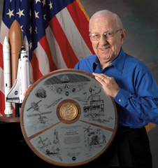 Opening up shop - Harold Ferrese played a key role in the opening of the Johnson Space Center.