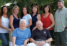 Father does know best Gene Kranz, famed NASA flight controller, with his family. His wife, Marta, is seated beside him and his children, standing from left to right, are Jeannie and siblings Lucy, Brigid, Carmen, Joan and Mark. Photo credit-Courtesy of Jeannie Kranz