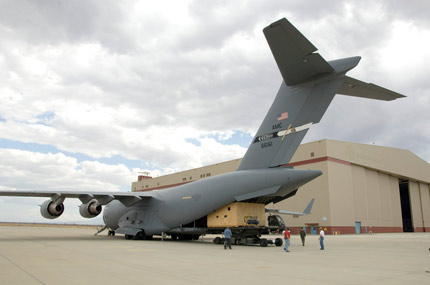 Newly Coated SOFIA mirror assembly returns on C-17 for reinstallation