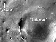 Victoria and Endeavour craters