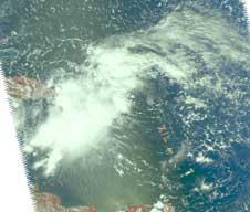 Visible AIRS image of Kyle on Sept. 22, 2008