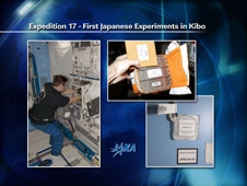 First Japanese Experiments in Kibo