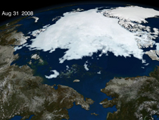 Screen shot of animation of Arctic sea ice from January 1 through September 12
