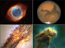 A montage of Hubble images