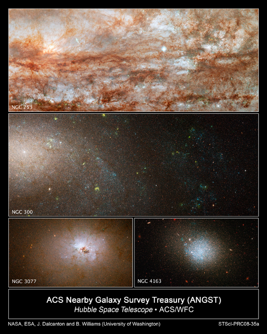 Hubble images of galaxies