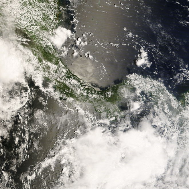Recent True Color image of Panama from NASA Terra Satellite