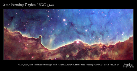 Hubble image of star forming region NGC 3324
