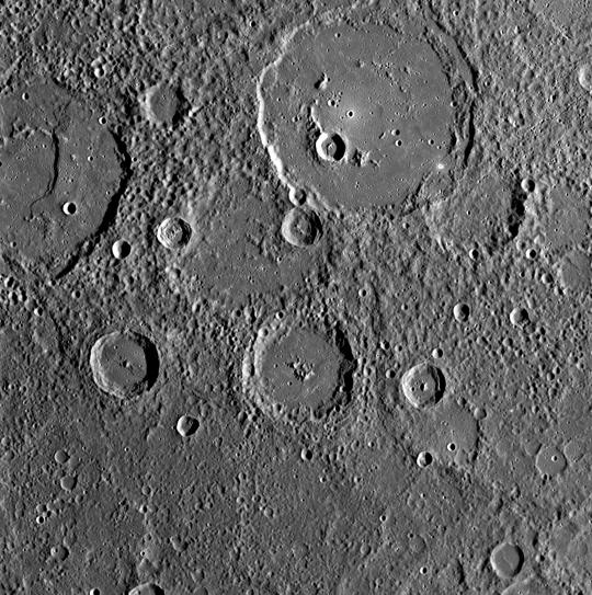 Nasa Mercury Crater Close Up