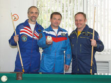 Richard Garriott, Yury Lonchakov, and Michael Fincke