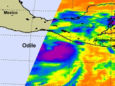 Satellite image of Odile
