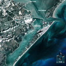 Landsat image of Galveston