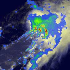 Tropical Storm Nana on October 12, 2008