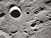 An up-close view of craters on the moon