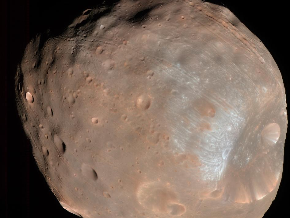 NASA shot of Phobos
