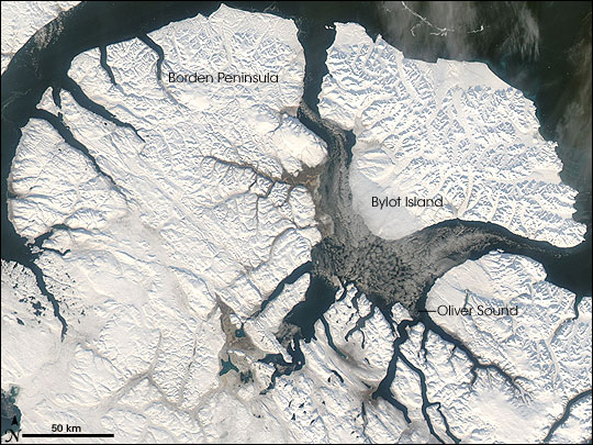Satellite image of Baffin Island