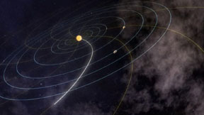 Artist concept of our solar system