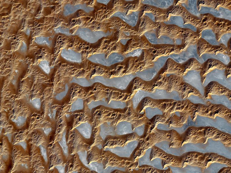 Splendeur du désert Rub' al Khali vues de l'espace