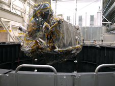 LRO entering a thermal vac chamber