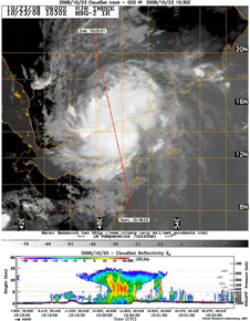 Satellite image of storm 3B