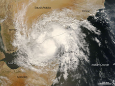 Flooding in Yemen brought by Tropical Cyclone 3B