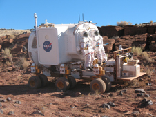 Small Pressurized Rover (SPR) with EVA suit ports