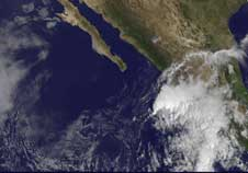 GOES image of Tropical Depression 17