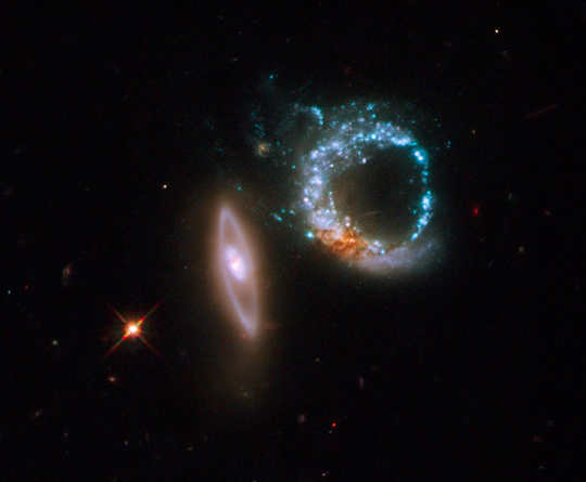 Hubble image of Arp 147