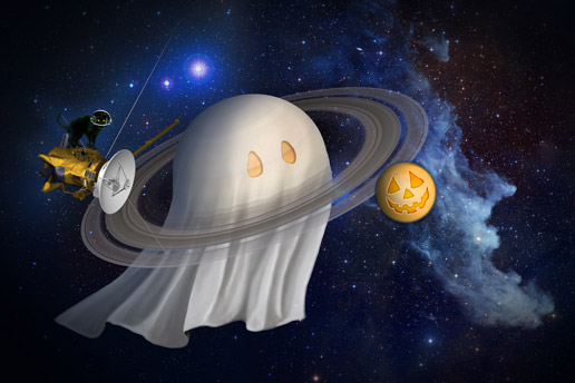 Artist's concept of a Halloween theme at Saturn