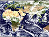 Satellite view from over Africa and the Indian Ocean