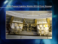 Multi-Purpose Logistics Module Aft End Cone Stowage