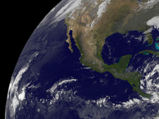 GOES image of Polo far southwest of Mexico
