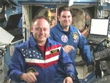 Expedition 18 Commander Mike Fincke and Flight Engineer Greg Chamitoff