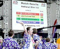Cheering students in NASA's FIRST Robotics Competition