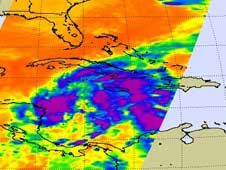 AIRS image of Tropical Storm Paloma on November 6, 2008