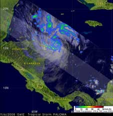 TRMM image of Paloma from November 6, 2008