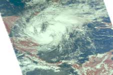 AIRS visible image of Paloma from Nov. 7, 2008