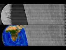 The Orientation of Earth when the image was taken.