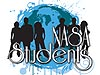 A graphic showing a group of students outlined in front of Earth with the words NASA Students at the bottom