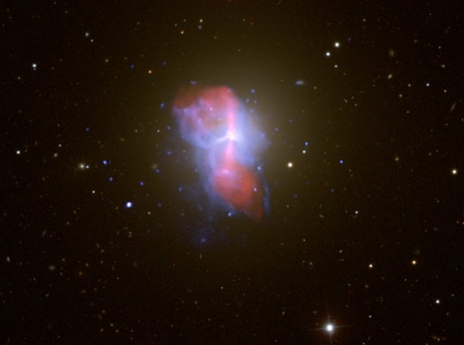 M84, a massive elliptical galaxy in the Virgo Cluster