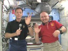 Astronauts Chris Ferguson and Mike Fincke