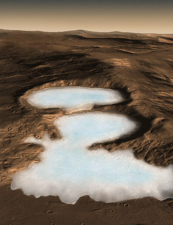 NASA glacier graphic