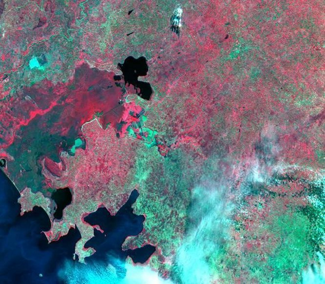 SERVIR Africa team multispectral image of the Nzoia River basin in Kenya