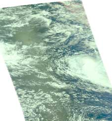 AIRS image of Anika and O3S on November 21, 2008