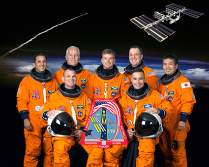 STS119-S-002: STS-119 crew