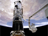 The Hubble Space Telescope in orbit with the Space Shuttle