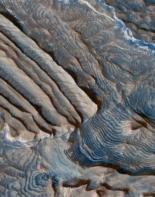 Periodic Layering in Becquerel Crater, Mars